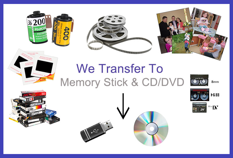 We transfer to USB and CD/DVD